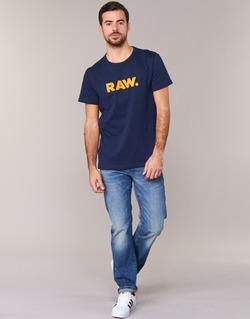 Oblečenie Muži Tričká s krátkym rukávom G-Star Raw RAW DOT Námornícka modrá