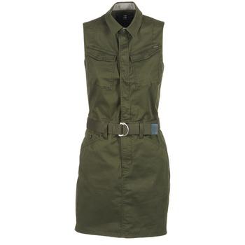 Oblečenie Ženy Krátke šaty G-Star Raw ROVIC SLIM DRESS S/LESS Kaki
