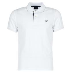 Oblečenie Muži Polokošele s krátkym rukávom Gant CONTRAST COLLAR PIQUE Biela