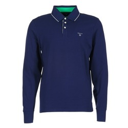 Oblečenie Muži Polokošele s dlhým rukávom Gant 3-COL CONTAST RUGGER Námornícka modrá