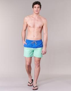 Oblečenie Muži Plavky  Gant CUT & SEWN SWIM SHORT Zelená / Námornícka modrá
