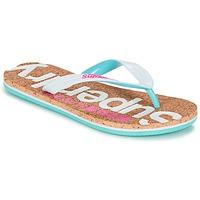 Topánky Ženy Žabky Superdry CORK COLOUR POP FLIP FLOP Biela / Ružová / Modrá