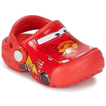 Topánky Deti Nazuvky Crocs Crocs Funlab Light CARS 3 Movie Clog Červená