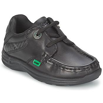 Topánky Deti Námornícke mokasíny Kickers REASON LACE Čierna