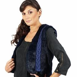 Oblečenie Ženy Saká a blejzre April First GILET SANS MANCHE Modrá