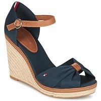 Topánky Ženy Sandále Tommy Hilfiger ELENA 56D Námornícka modrá / Hnedá