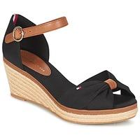 Topánky Ženy Sandále Tommy Hilfiger ELBA 40D Čierna / Hnedá