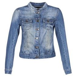 Oblečenie Ženy Džínsové bundy DDP DASTIONA Modrá / MEDIUM