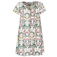 Oblečenie Ženy Krátke šaty Compania Fantastica EPINETA Biela / Zelená / Ružová