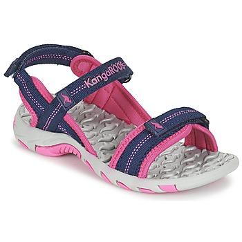 Topánky Dievčatá Športové sandále Kangaroos MUSER Námornícka modrá / Ružová
