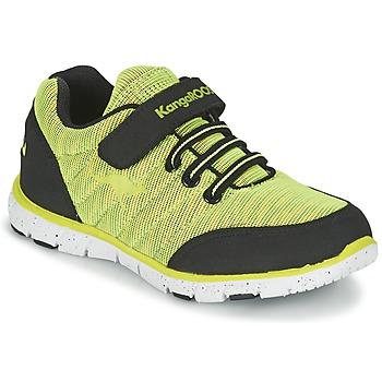 Topánky Chlapci Nízke tenisky Kangaroos NURI ZEBRA Zelená / čierna