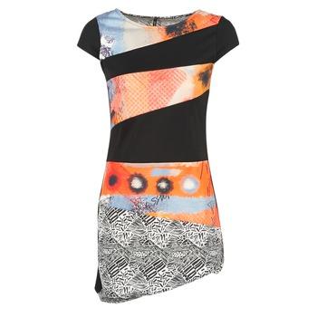 Oblečenie Ženy Krátke šaty Smash SERPENS čierna / Oranžová / šedá