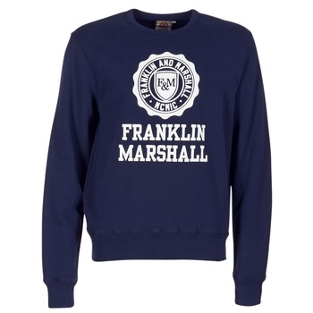 Oblečenie Muži Mikiny Franklin & Marshall NESS OFRA Námornícka modrá