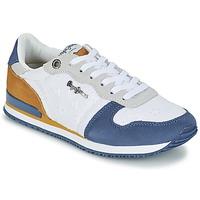 Topánky Ženy Nízke tenisky Pepe jeans GABLE ANGLAISE SOUL Biela / Modrá / šedá