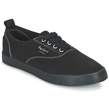 Topánky Ženy Nízke tenisky Pepe jeans JULIA MONOCROME Čierna