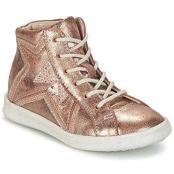 Topánky Dievčatá Členkové tenisky GBB PRUNELLA Ružová / Zlatá