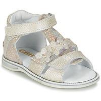 Topánky Dievčatá Sandále GBB PING šedá / Strieborná