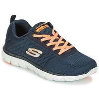 Topánky Ženy Módne tenisky Skechers Flex Appeal 2.0 Break Free Uhoľná šedá