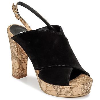 Topánky Ženy Šľapky Now PAPIRON čierna