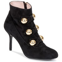 Topánky Ženy Čižmičky Moschino Cheap & CHIC BOW Čierna