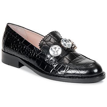 Topánky Ženy Mokasíny Moschino Cheap & CHIC STONES Čierna