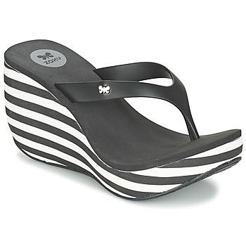 Topánky Ženy Žabky Zaxy LIPSTICK V čierna / Biela