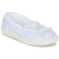 Topánky Dievčatá Balerínky a babies Chipie SALSABA Trblietkavá / Biela