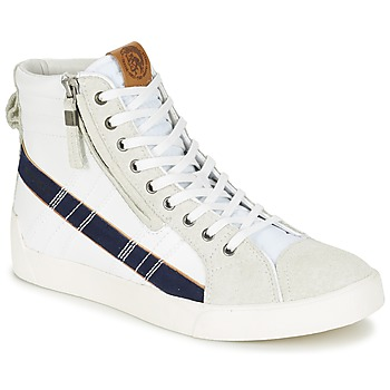 Topánky Muži Členkové tenisky Diesel D-STRING PLUS Biela / Modrá
