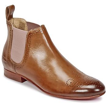 Topánky Ženy Polokozačky Melvin & Hamilton SALLY 16 ťavia hnedá