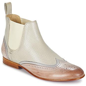 Topánky Ženy Polokozačky Melvin & Hamilton SALLY 19 Biela