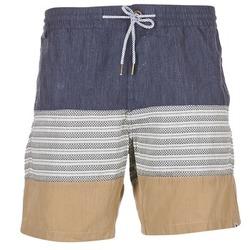 Oblečenie Muži Šortky a bermudy Volcom THREEZY JAMMER Námornícka modrá / Béžová / šedá