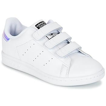 Topánky Deti Nízke tenisky adidas Originals STAN SMITH CF C Biela