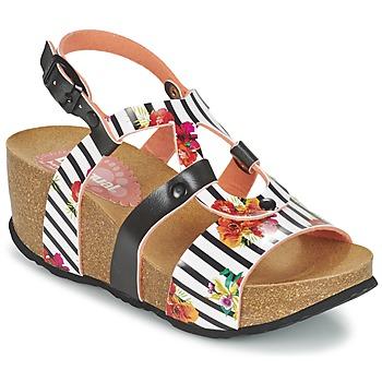 Topánky Ženy Sandále Desigual BIO 9 FLORES čierna / Biela / Flower