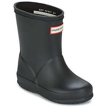 Topánky Deti Čižmy do dažďa Hunter KIDS FIRST CLASSIC Čierna