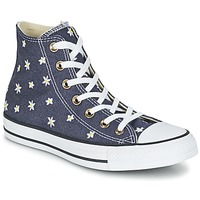 Topánky Ženy Členkové tenisky Converse CHUCK TAYLOR ALL STAR DENIM FLORAL HI Námornícka modrá / žltá / Biela