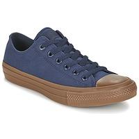 Topánky Muži Nízke tenisky Converse CHUCK TAYLOR ALL STAR II TENCEL CANVAS OX Námornícka modrá / Hnedá