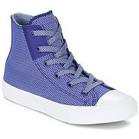 Topánky Deti Členkové tenisky Converse CHUCK TAYLOR ALL STAR II BASKETWEAVE FUSE TD HI Modrá indigová / Modrá / Biela