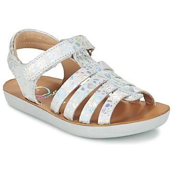 Topánky Dievčatá Sandále Shoo Pom GOA SPART Strieborná