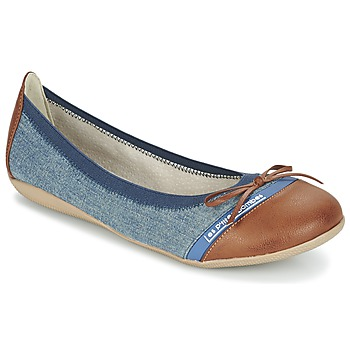 Topánky Ženy Balerínky a babies Les P'tites Bombes CAPRICE Modrá / Ťavia hnedá