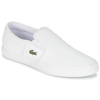 Topánky Muži Slip-on Lacoste GAZON BL 1 Biela