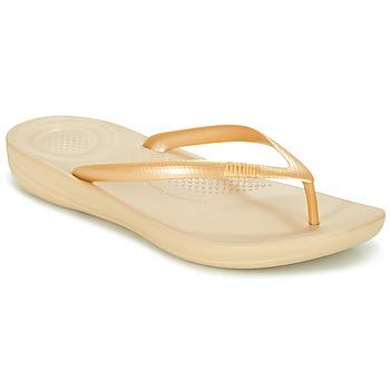 Topánky Ženy Žabky FitFlop IQUSHION ERGONOMIC FLIP-FLOPS Zlatá