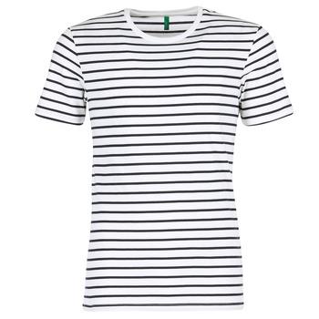 Oblečenie Muži Tričká s krátkym rukávom Benetton MAKOUL Modrá / Biela