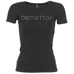 Oblečenie Ženy Tričká s krátkym rukávom Benetton AJAVOL čierna