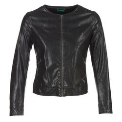 Oblečenie Ženy Kožené bundy a syntetické bundy Benetton JANOURA Čierna