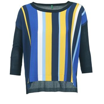 Oblečenie Ženy Svetre Benetton OVEZAK Modrá / žltá / Biela