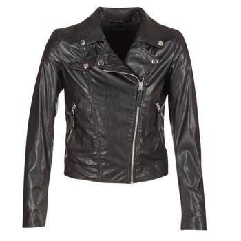 Oblečenie Ženy Kožené bundy a syntetické bundy Benetton FAJOLI Čierna