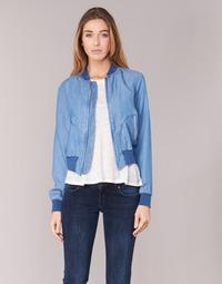 Oblečenie Ženy Džínsové bundy Benetton FERMANO Modrá / Medium