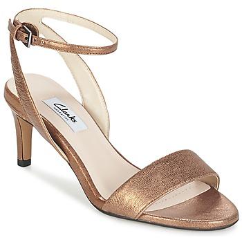Topánky Ženy Sandále Clarks AMALI JEWEL Zlatá