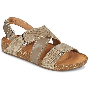 Topánky Ženy Sandále Clarks ROSILLA ESSEX Hnedá