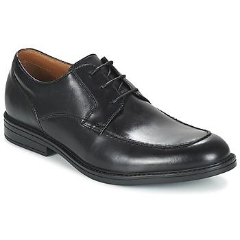 Topánky Muži Derbie Clarks BECKFIELDAPRON čierna